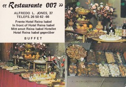 RESTAURANTE 007, FRENTE HOTEL REINA ISABEL, BUFFET. IRAGRA.-SPAIN ESPAGNE-BLEUP. - Hotel's & Restaurants