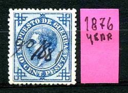 SPAGNA - Year 1876 - Usato - Used - Utilisè - Gebraucht. - Tasse Di Guerra