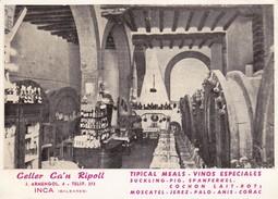 CELLER CA'N RIPOLL. TIPICAL MEALS, VINOS ESPECIALES-SPAIN ESPAGNE-BLEUP. - Hotel's & Restaurants