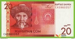 Voyo KYRGYZSTAN 20 SOM  2009 P24a B220a Prefix CA UNC - Kyrgyzstan