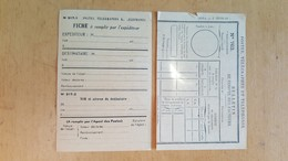 POSTES, TELEGRAPHES ET TELEPHONES BULLETIN DE COMPTES DES FACTEURS NEUF LOT DE 2 - Vieux Papiers