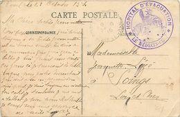 - Themes Div- Ref V303-marcophilie -cachets - Cachet Santé Hopital D Evacuation -le Medecin Chef -souvenir De Toul - - WW I