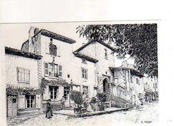 01 GENAY Autrefois Place Et Porte Du Fortin 1900 Reproduction Carton Format 19x13 Cm Illustrateur Poizat - France