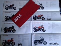 Dep001 Depliant Advertising Gamma Moto Guzzi 2004 Le Mans Sport Ballabio California Coppa Italia Schede Tecniche - Moto