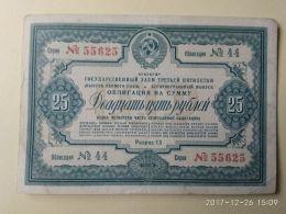 Obbligazioni 25 1938 - Russia