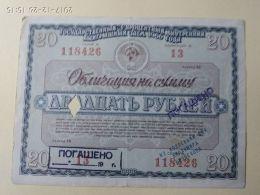 Obbligazioni 20 1966 - Russia