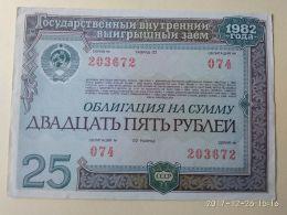 Obbligazioni 25 1982 - Russia