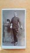 1 Photo - CDV - Militaire  - Photographe Dubuit Angers. Très Bon état. - Anciennes (Av. 1900)