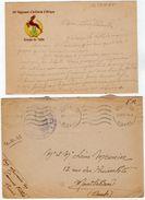 VP11.828 Guerre 39 / 45 - Lettre Avec Franchise Militaire Du Brigadier MEUNIER Au 64 ème R.A.A à NEVERS Pour MONTBELIARD - Documents