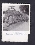 Photo Originale Guerre 39-45 Groupe Militaires  Blindé Léger St Louis Blues Armée Patton à Flavigny Sur Moselle USA Army - Guerre, Militaire