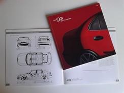 Dep003 Depliant Advertising SAAB 93 Sport Limousine Auto Car 1999 Dettagli Tecnici Dimensioni Colori Motore Engine - Automobili