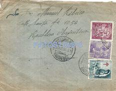 84061 SPAIN ESPAÑA BARCELONA SARRIA COVER YEAR 1955 CIRCULATED TO ARGENTINA NO POSTAL POSTCARD - Sin Clasificación