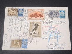 SAINT MARIN - Carte Postale Pour L 'Allemagne En 1957 , Affranchissement Plaisant - L 10857 - Saint-Marin