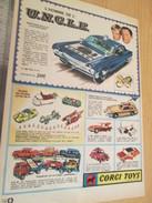 Page De Revue Des Années 60/70 : PUBLICITE  CORGY TOYS  NOMBREUX MODELES Format  VOIR PAGE A4 - Corgi Toys