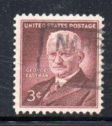 STATI UNITI 1954 , Yvert N.  584 (Un. 854)  Usato . Eastman - Gebruikt