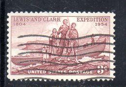 STATI UNITI 1954 , Yvert N.  586 (Un. 855)  Usato . Lewis - Used Stamps