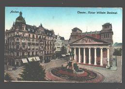 Aachen - Theater - Kaiser Wilhelm Denkmal - 1925 - Army Post Belgium - Aken