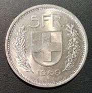 SVIZZERA - ANNO 1969 - 5 FRANCHI  -  QUALITA' SPL - CONFEDERATIO HELVETICA - Svizzera