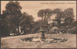 Fountain In Morrab Gardens, Penzance, Cornwall, 1911 - Valentine's Postcard - England