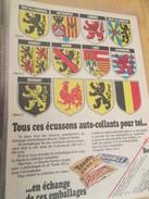 Page De Revue Des Années 60/70 : PUBLICITE  AUTOCOLLANTS PROVINCES BELGES TREETS MARS BOUNTY Format  VOIR PAGE A4 - Autocollants