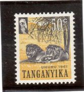 CP87 - TANGANYIKA  45** De 1961. Lion. - Postzegels