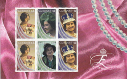 GUERNSEY POSTZEGELBLOKJE QUEEN MOM ELISABETH UITGAVE  1999 - Guernsey