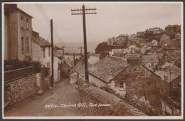 Church Hill, Port Isaac, Cornwall, C.1930 - Sweetman RP Postcard - England
