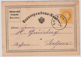 1874, GA 2 Kr. Gelb, Zudruck Vorder U. Rückseitig ,  #9092 - Ganzsachen