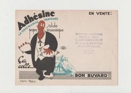 BUVARD ADHESINE La Colle Blanche Parfumée , Tampon Mercerie-Papeterie C. MIGEON-BONTE , LAMBERSART-LEZ LILLE - Stationeries (flat Articles)
