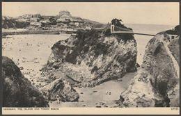 The Island And Towan Beach, Newquay, Cornwall, C.1950 - Photochrom Postcard - Newquay