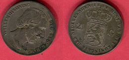 § 2 1/2 GULDEN     (KM 82) TB 38 - 1849-1890: Willem III.