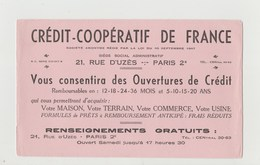 BUVARD CREDIT COOPERATIF DE FRANCE - Bank & Insurance