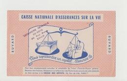 BUVARD CAISSE NATIONALE D'ASSURANCES SUR LA VIE , Tampon TRESORERIE GENERALE DU NORD , LILLE - Bank & Insurance