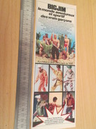 Page De Revue Des Années 60/70 : FIGURINE ANIMEE BIG JIM ET TOUTES SES COPINES    , Format : 1/2 Page A4 - Other Collections