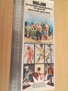 Page De Revue Des Années 60/70 : FIGURINE ANIMEE BIG JIM ET TOUTES SES COPINES    , Format : 1/2 Page A4 - Autres Collections