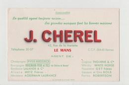BUVARD J. CHEREL , Alcool - Blotters