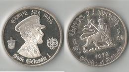 5 DOLLARS   1972  ARGENT SUPERBE ! - Ethiopie