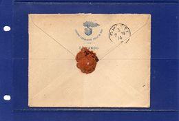 ##(YEL1)-Italia 2-2-1909 -  Bari  -   Busta Intestata Del  Comando Legione Carabinieri Reali Di Bari  Per  Chieti - Marcofilía