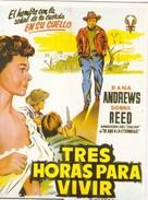 CPM Affiche De Film Spanish Posters TRES HORAS PARA VIVIR Dana ANDREWS, Dona REED - Affiches Sur Carte