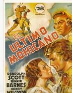 CPM Affiche De Film Spanish Posters EL ULTIMO MOHICANO Randolph SCOTT Binnie BARNES Henry WILCOXON - Affiches Sur Carte