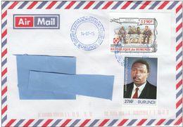 Z3] Enveloppe Cover Burundi NON Dentelé IMPERF Chine China Diplomatic Relation Diplomatique Jia Qinglin Meeting - Burundi
