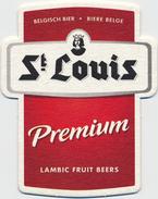 BELGIUM - Belgique - Belgien - Belgio Beer - Bière - Bier - Birra - Cerveza COASTER MAT ST. LOUIS LAMBIC FRUIT UNUSED - Sous-bocks