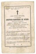 Lotenhulle: 1869, Josephus-Franciscus De Keyser, Notaris ( 2 Scans) - Images Religieuses