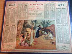 """Almanach Des Postes & Des Télégraphes 1943-  """"VIE DE FAMILLE"""" - Big : 1941-60"""