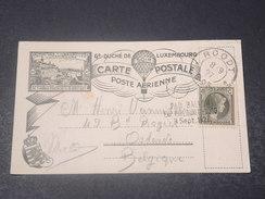 LUXEMBOURG  -  Carte De L 'Exposition Philatélique De 1927 Par Ballon Pour La Belgique - L 10879 - Luxembourg