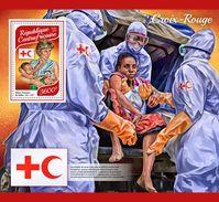 CENTRAL AFRICA 2017 - Red Cross, Diana S/S Official Issue - Königshäuser, Adel