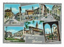 SALUTI DA SALUZZO - VEDUTE VIAGGIATA FG - Cuneo