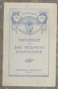 Historique Du 346 ème Régiment D'Infanterie - War 1914-18