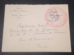 MAROC - Enveloppe En FM De Rabat Pour Paris En 1916 - L 10882 - Maroc (1891-1956)
