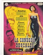CPM Affiche De Film Spanish Posters LA CONDEZA DESCALZA Humphrey BOGART, Ava GARDNER ... - Affiches Sur Carte